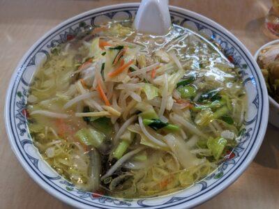 野菜ラーメンの塩味